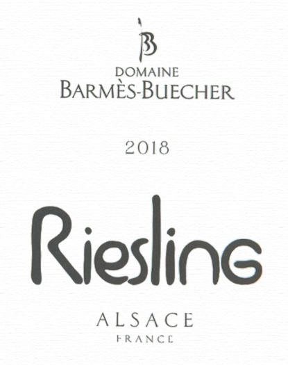 Alsace Riesling Tradition Domaine Barmès-Buecher 2018