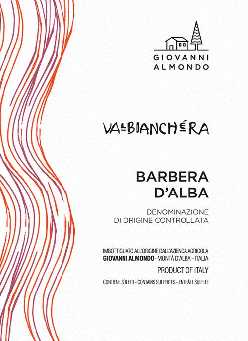 Barbera d'Alba Valbianchera Giovanni Almondo 2018